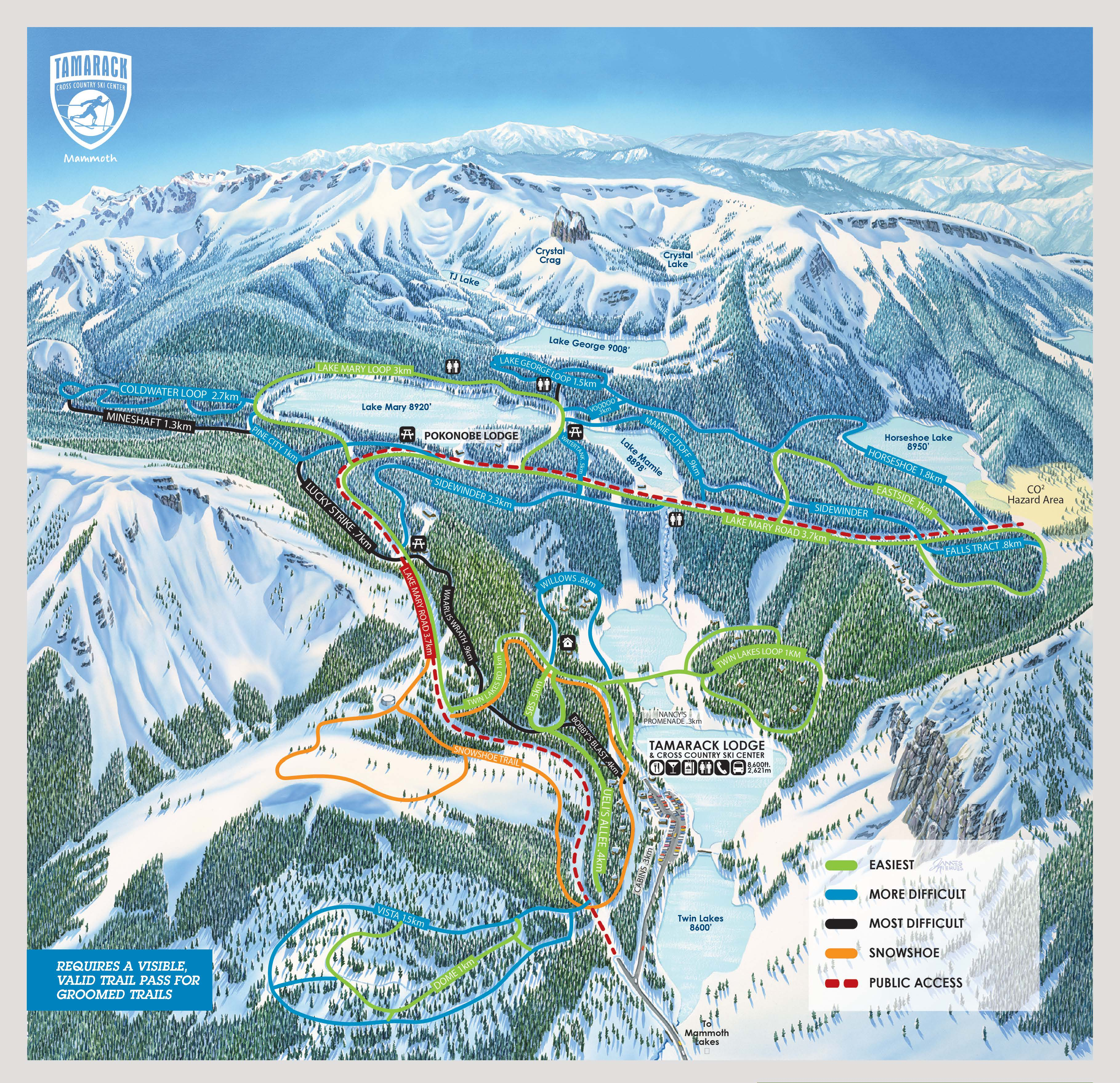 Mammoth Mountain Host Department - Mammoth mountain trail map
